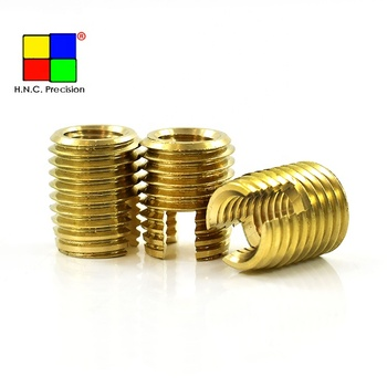 Brass Steel Self Tapping Threaded Inserts For Metal Or Plastic