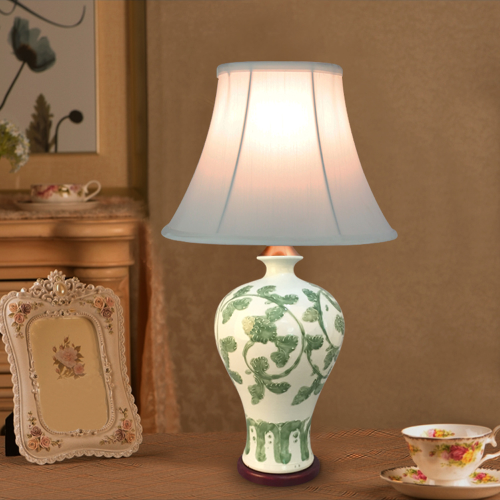 European Style 110v 220v Light Source Fabric Lampshade
