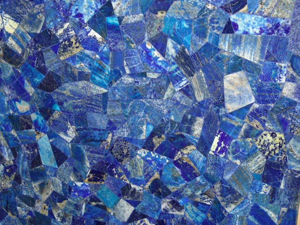 Marmol pulido lapislázuli natural de la piedra preciosa chimenea ...