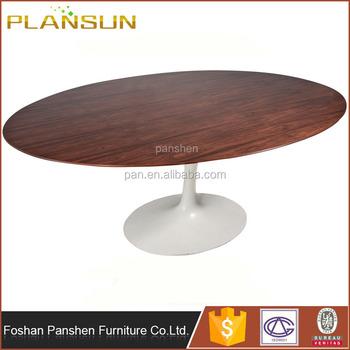 Replica Designer Furniture Saarinen Walnut Tulip Oval Shaped Dining - Walnut tulip dining table