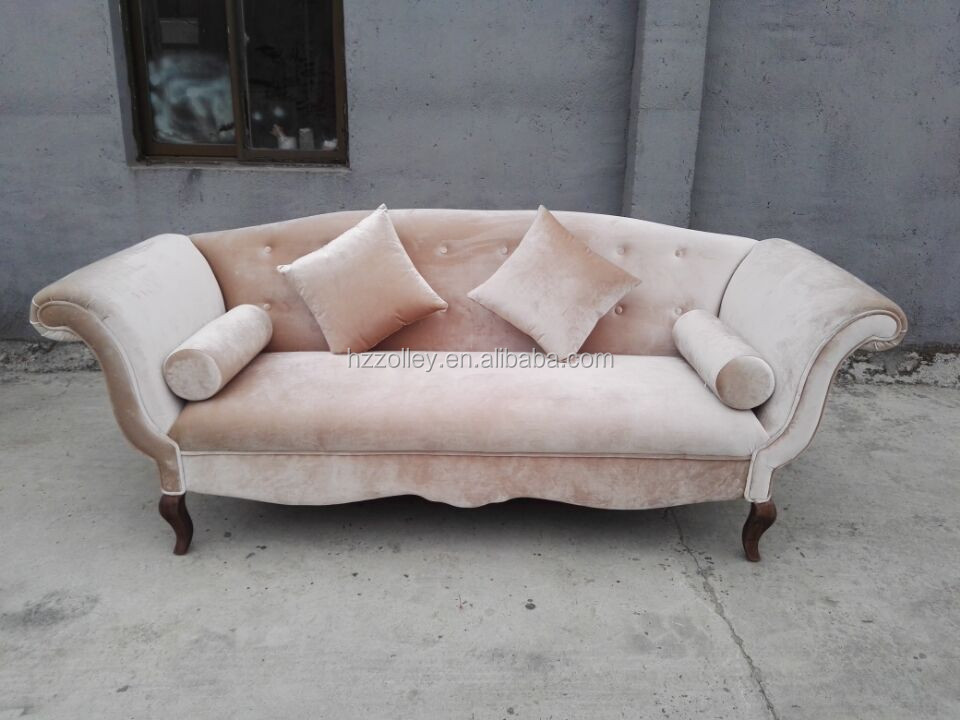 French Style Cream Color Pub Sofa Chair White Wedding And Event