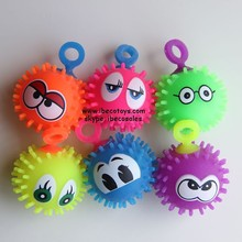 Small rubber balls with faces, toy balls with LED light