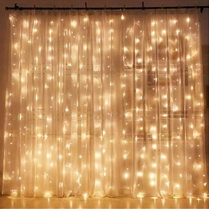 Twinkle 300 LED Window Curtain String Light for Wedding Party Home Garden Bedroom Outdoor Indoor Wall Decorations