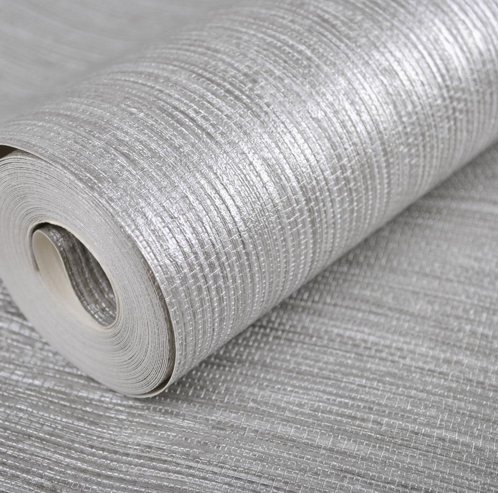 Vertical Texture Metallic Silver Faux Grasscloth Vinyl ...