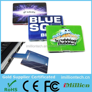 High Speed Square Shape Credit Card USB Flash Drive No Housing with Free Custom Logo