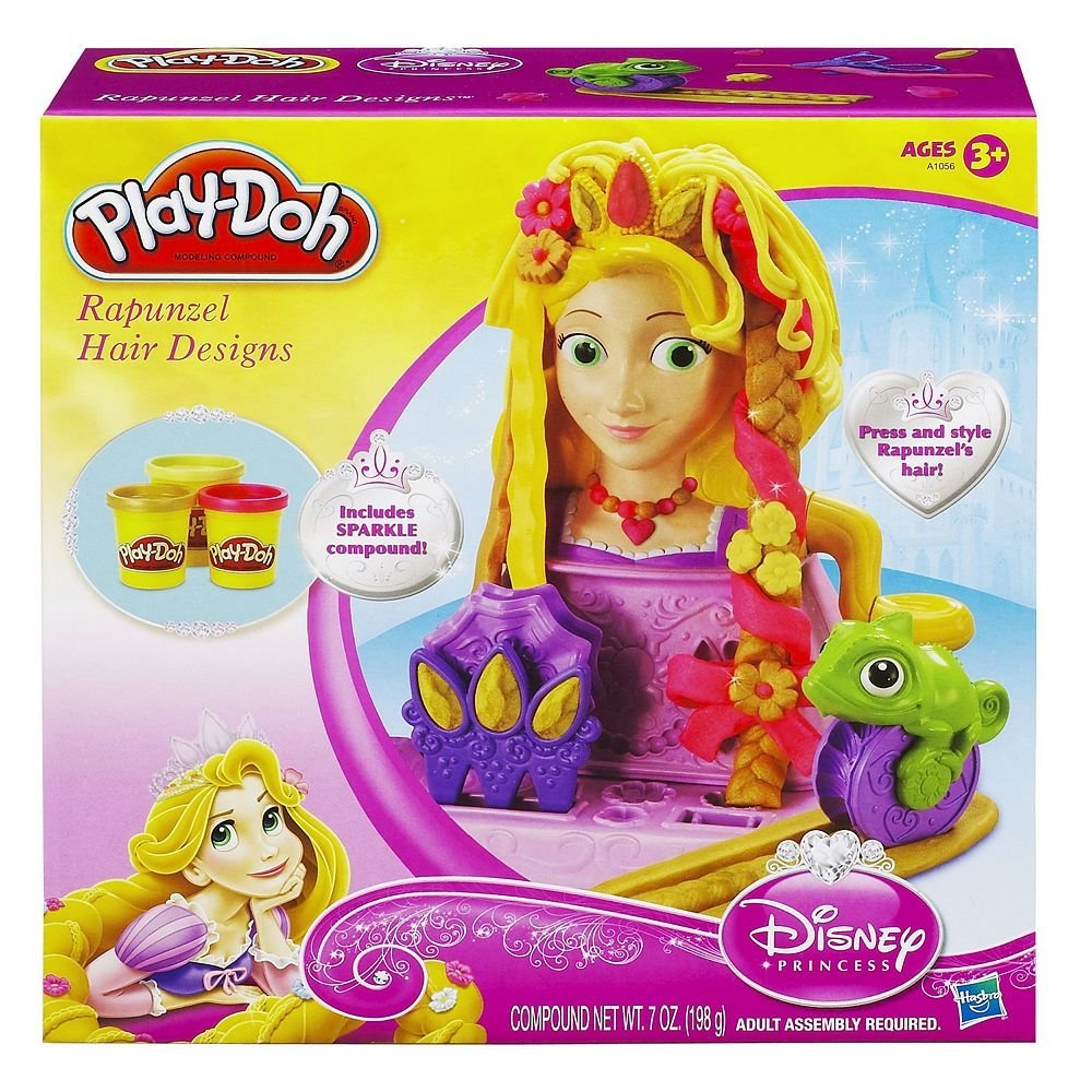 Toy / Play Play-Doh Disney Princess Rapunzel Hair Designs Set. Mold, Cutter, Shaped, Tools, Modeling, Playset Game / Kid / Child