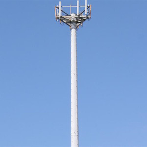 Signal Broadcasting Cell Monopole Tower with Platforms Q345