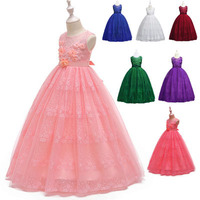 cute flower girls princess frocks simple designs latest party children clothes evening tulle patterns dresses made in China