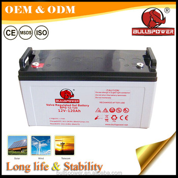 Storage lead acid 120ah solar gel batteries 12v 120 ah