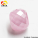 small size pink cubic zirconia cz stone facet cut beads gem