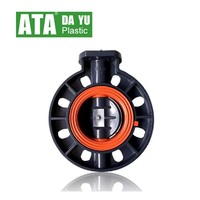 square head bare shaft butterfly valves viton seal available for actuator