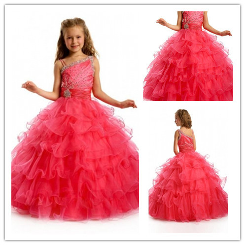 get quotations hot style orgaza wedding girls princess dress formal dresses junior christmas dresses2014 girls beauty pageant dresses - Cheap Christmas Dresses