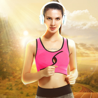 Wireless vest sports bra gather shockproof female fitness wear sexy lingerie breathable running bra
