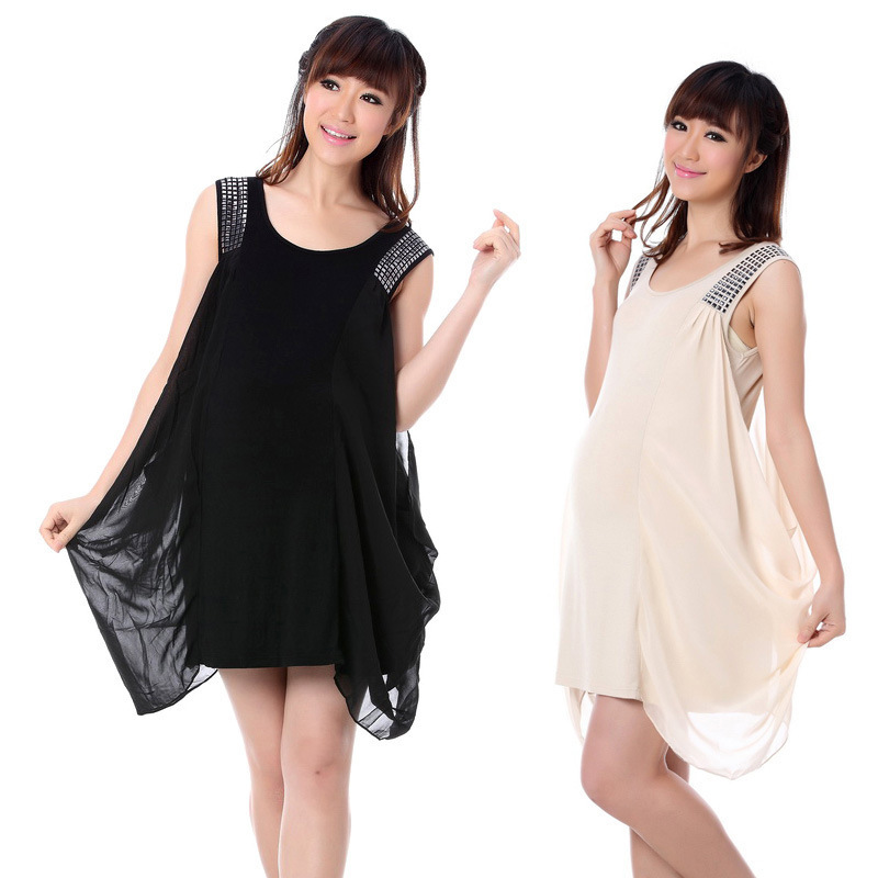 Maternity women summer dress pregnance fashion vestidos pregnant women casual dresses fashion style chiffon dress