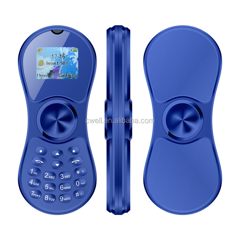 1.0 Inch Screen Spinner Style Very Small Mobile Phone with Bluetooth Dialer