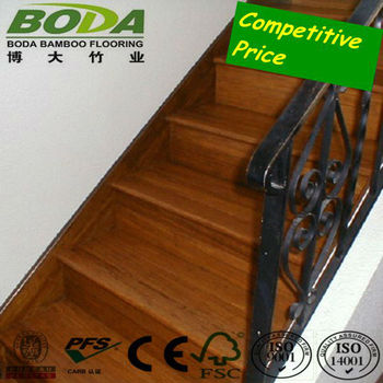 Stable Wear Resistant Carbonized Strand Woven Bamboo Stair Treads