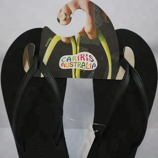 Custom 4 color printing made paper cardboard slipper  hanger/ shoes hanger