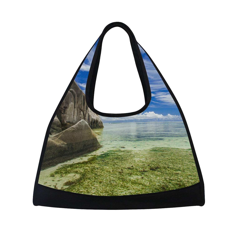 066127e5a7 Get Quotations · AHOMY Canvas Sports Gym Bag Sunshine White Cloud And Blue  Sky Travel Shoulder Bag