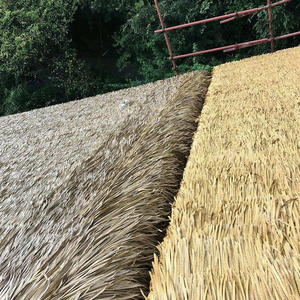 Synthetic Decoration Aluminum Simulation Thatch For Garden / Cottage / Park