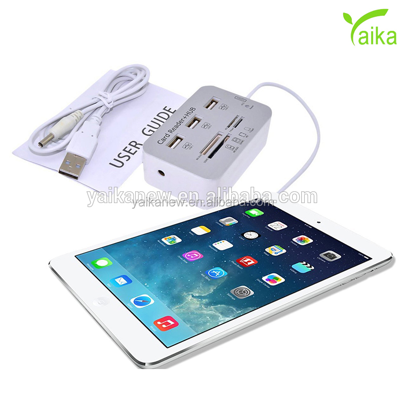 Yaika Camera Connection Kit voor iPhone serie 7 in 1 USB Hub Combo SD TF Kaartlezer