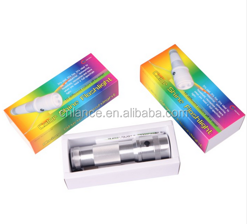 3W 10 colorful RGB color shine LED Flashlight for holiday