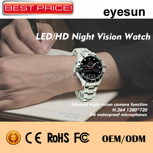 2014 New Product watch model hidden camera, Night Vision Spy Watch Camera,720P Spy Camera Watch,H.264 Hidden Camera Watch