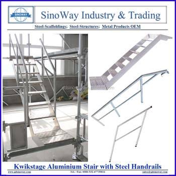 Kwikstage System Scaffolding Aluminum Stairs With Handrails