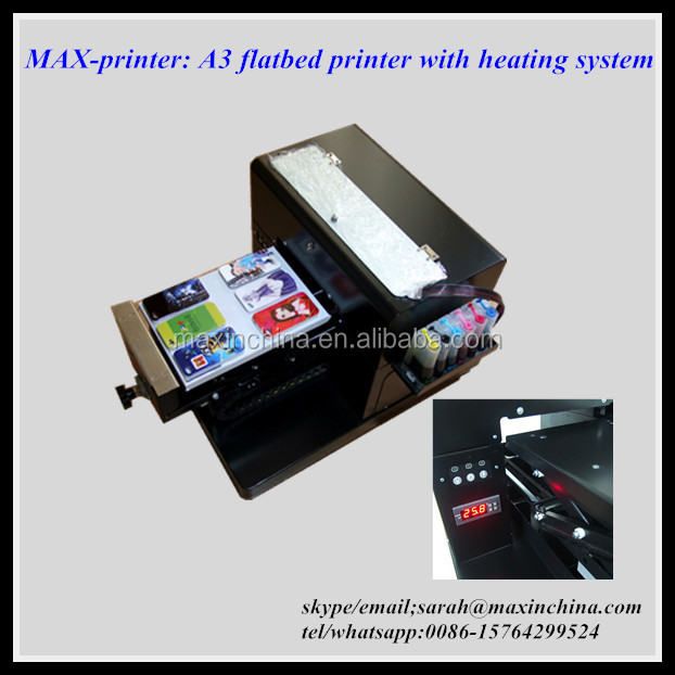 MAX-printer heating system included digital A3 flatbed printer