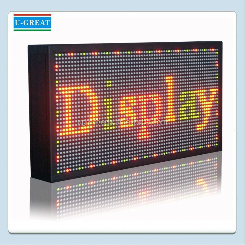 Factory price Piazza exhibition Outdoor Single Color P7.62 programmable LED Display