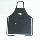 Adult black plain cotton apron,Poly/cotton bib Apron