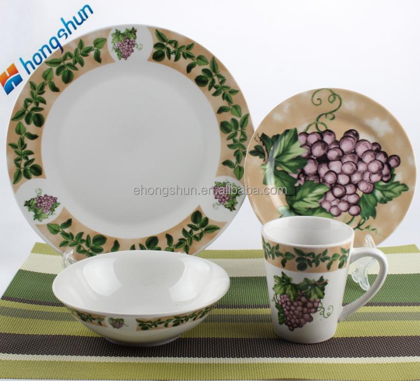 Vajilla de porcelana de lujo de alta calidad barato ir n - Vajilla de porcelana ...