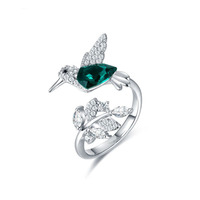 Perfect Fashion Design Natural Bird Animal Rings 925 Sterling Silver Ring Women