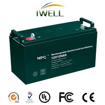 Small Rechargeable 12V 120Ah Valve Regulated Lead Acid Battery For Ups Power Supply