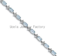 2014 Top Sale Most Popular Gemstone Jewelry cheap dubai white gold bracelets