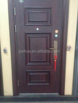 3 Panels Steel Apartment Building Entry Doors
