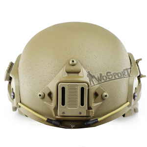 WoSporT Tactical Military Mich 2000 Adjustable Helmet with ARC Side Rails NVG Shroud Army Combat Bulletproof Ballistic Helmet