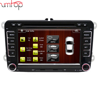 2 double din 6.2 inch tv android 5.1.1 car dvd player for Volkswagen Passat B6 B7 Polo Jetta Car DVD Golf5 6 Radio for VW -VW65D