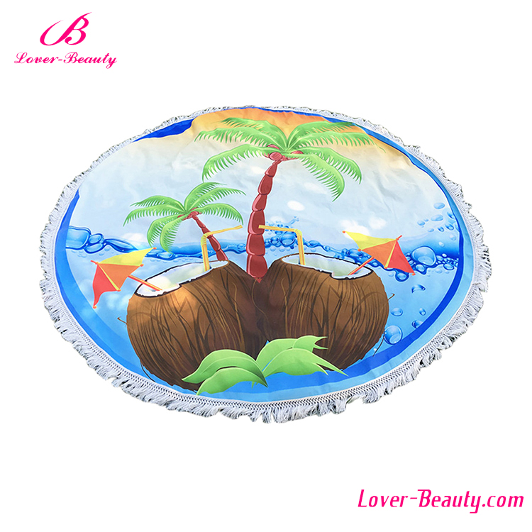 High Quality Coconut Chiffon Mexican Printing Beach Towel