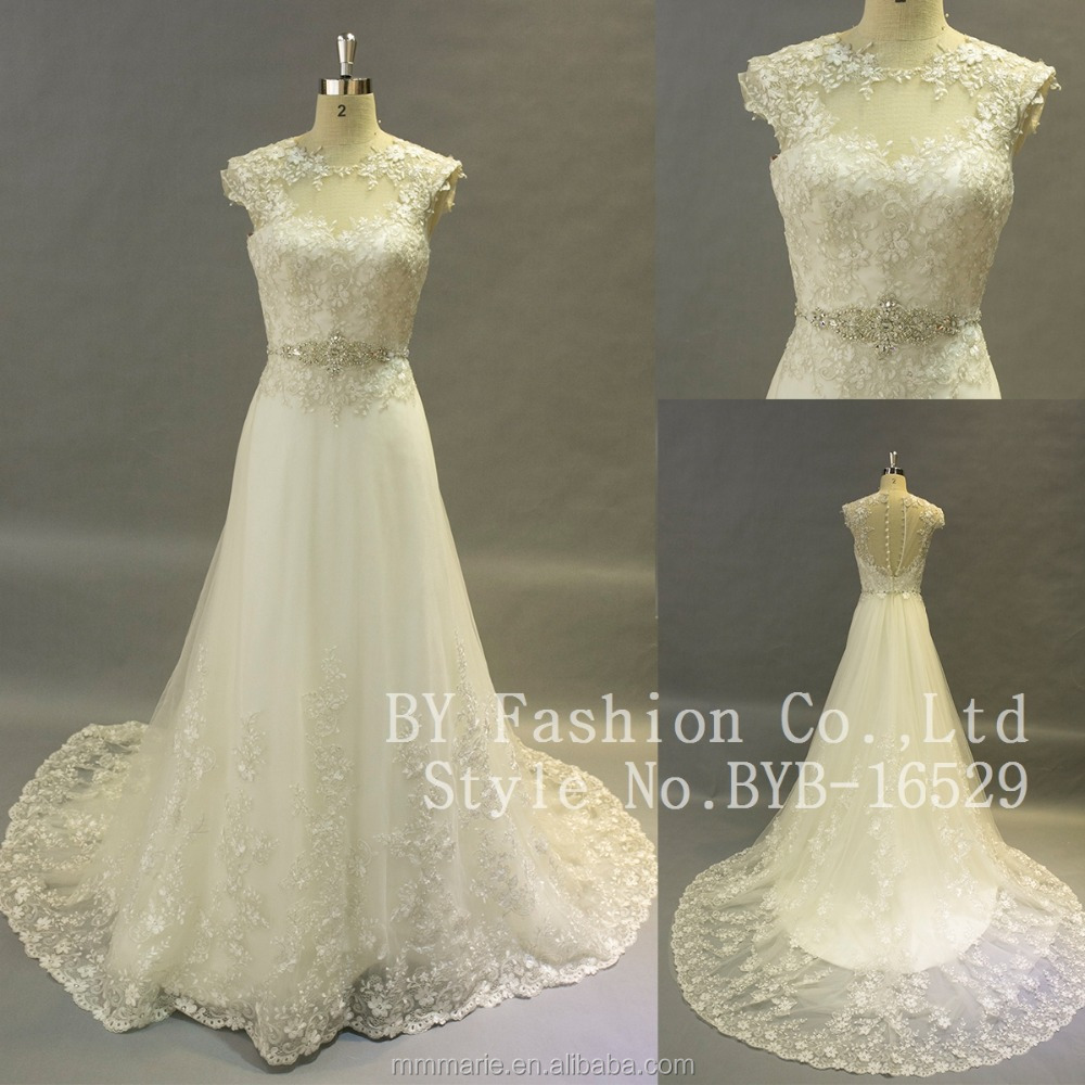 New Lace White Wedding dress Bridal Gown custom size