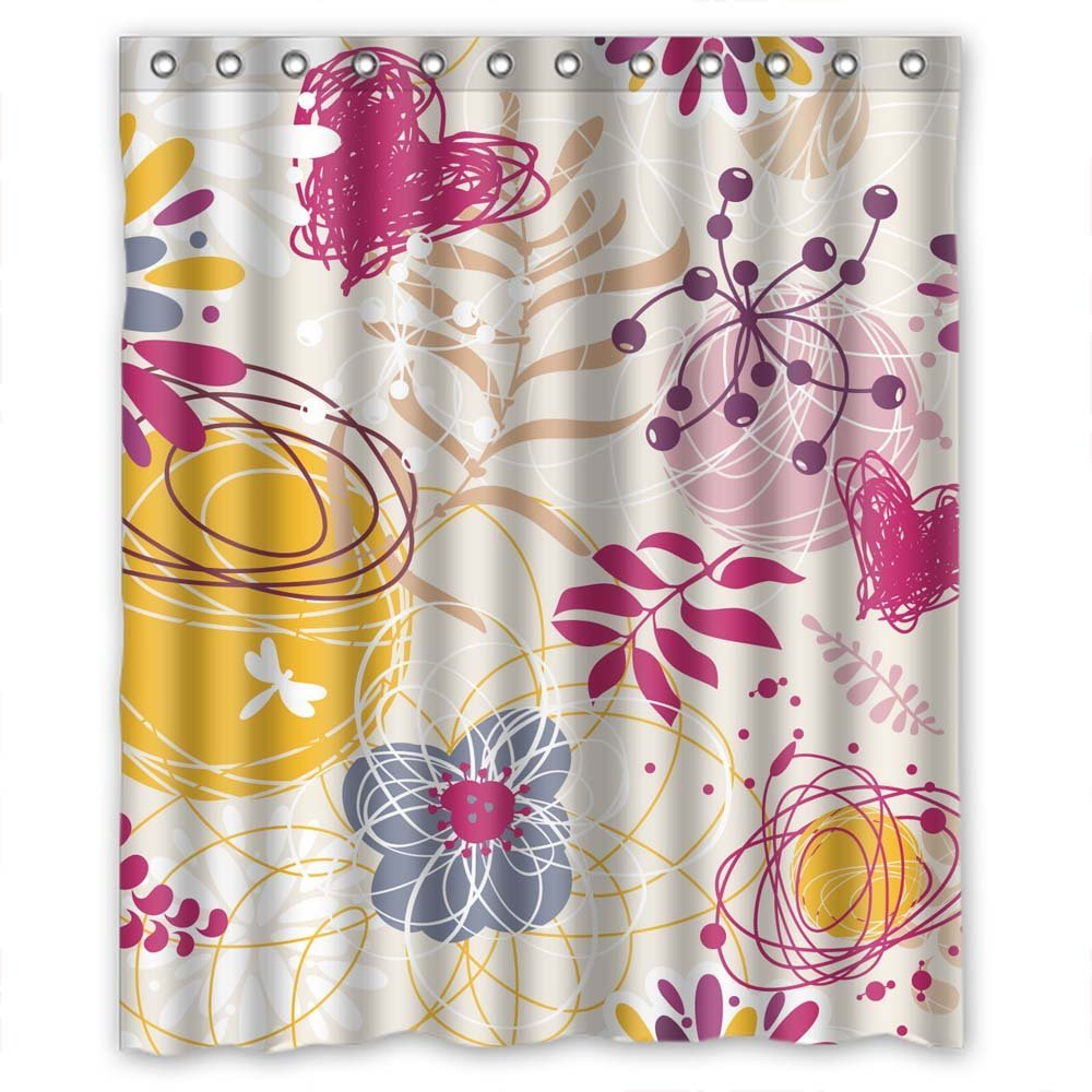 Monadicase Christmas Shower Curtains Width X Height 72 Inches W H 180 By