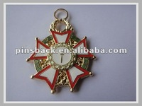"2"" hard eamel medals with gold finishing"