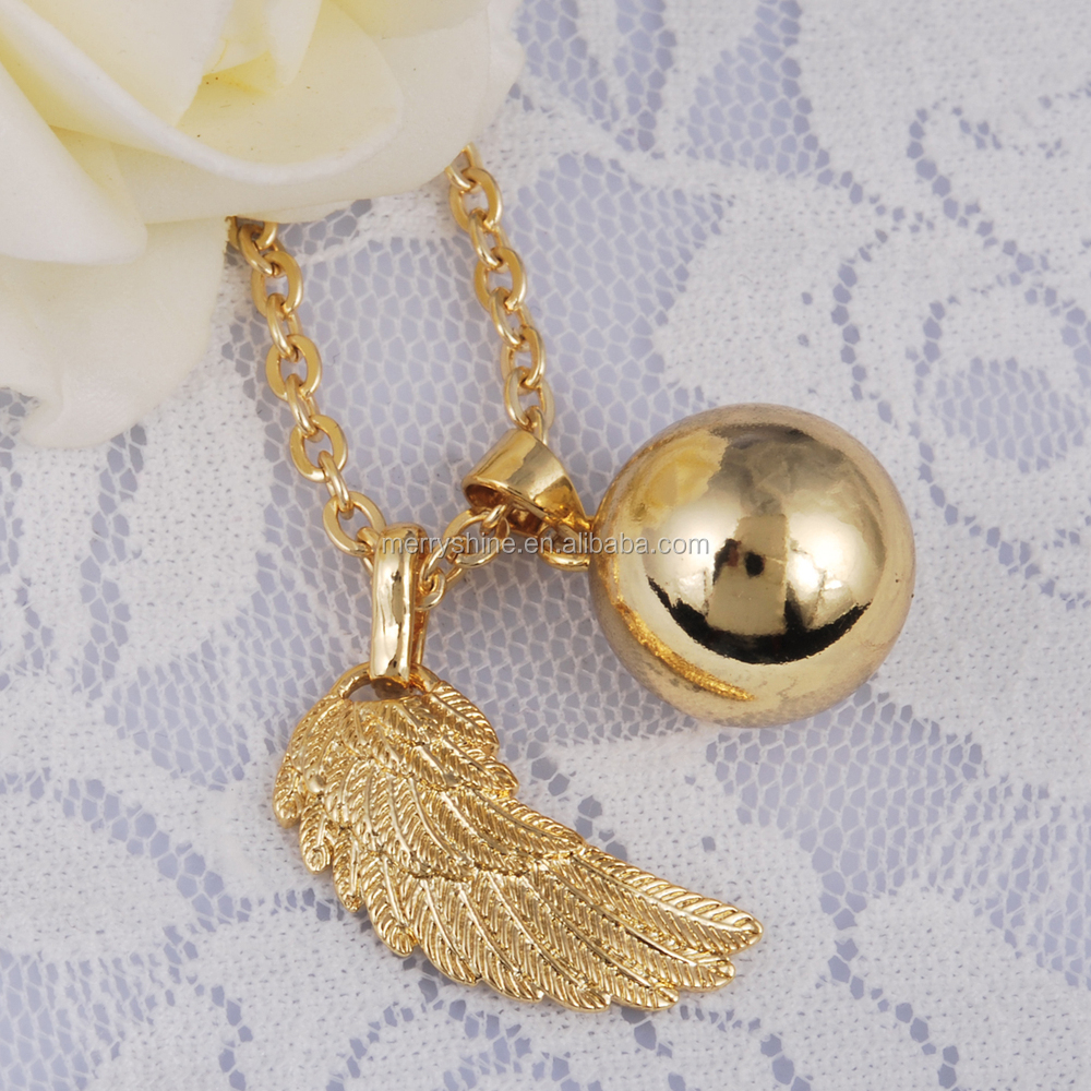 necklace pendants in pendant harmony bola ball wings mexico pregnancy silver eudora jewelry from angel item baby wing chime fashion chain