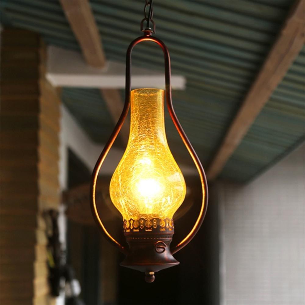 GAO LGDT Retro chandeliers, industrial tea floor lamp, the classic old chandeliers 20CM 98CM