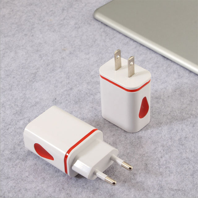 2.1A Multi Port USB Wall Charger, Input AC 100-240v 50-60Hz Dual USB Charging Adapter ( Color / OEM Color )