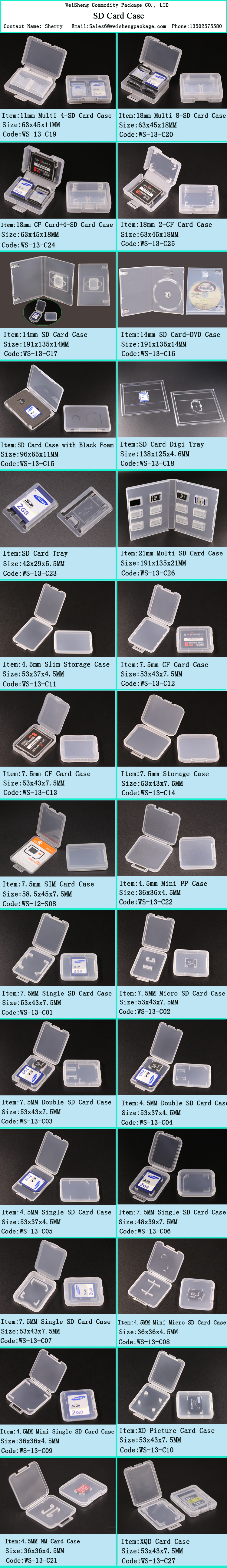 Gute Qualität PP-Material Einzel-SD-Karte Kunststoffkoffer