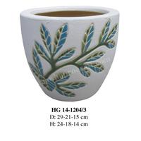 Round ceramic planters / Indoor flower pots garden (HG 14-1204/3)