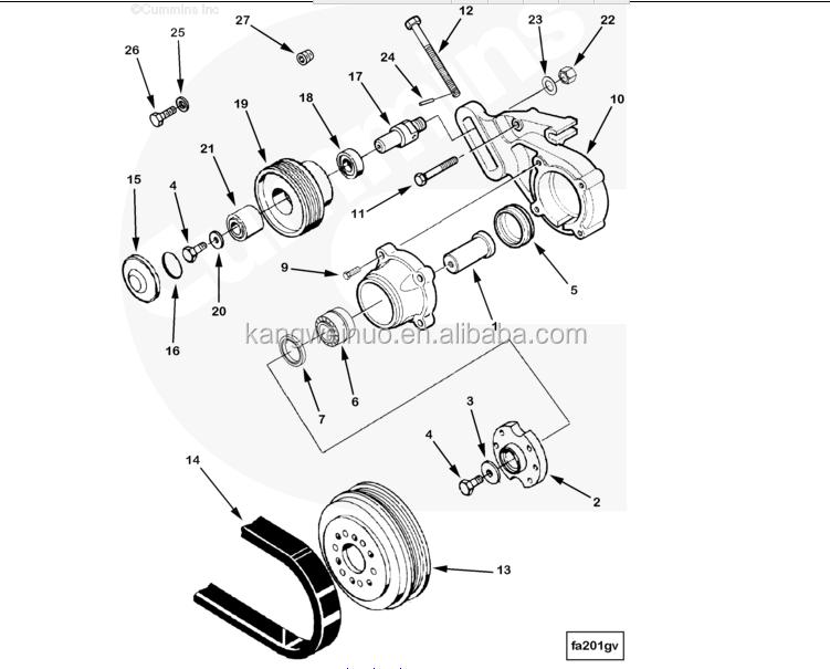 Motor Diesel M11 Qsm11 Ism11 Polea Del Ventilador 3046206