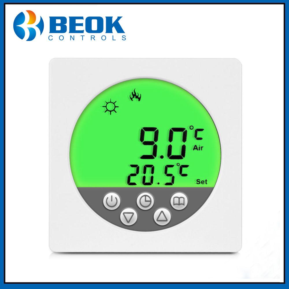 Underfloor Heating Temperature Settings: Shanghai Beok Controls Green Backlight Underfloor Heating