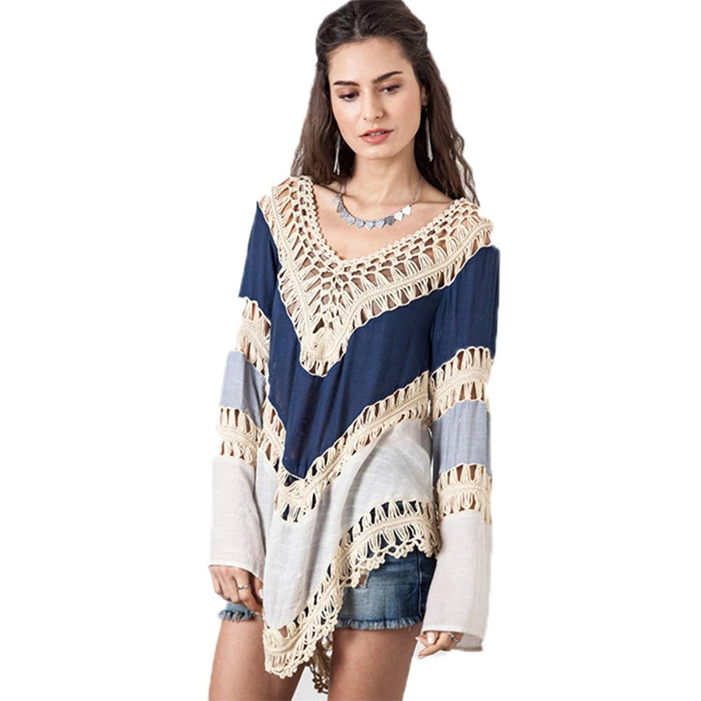 d5f9c1ec0ce0b Kuss Online Women's Swimsuit Cover up - Crochet V-Neck Tassel Plus Size, Beach