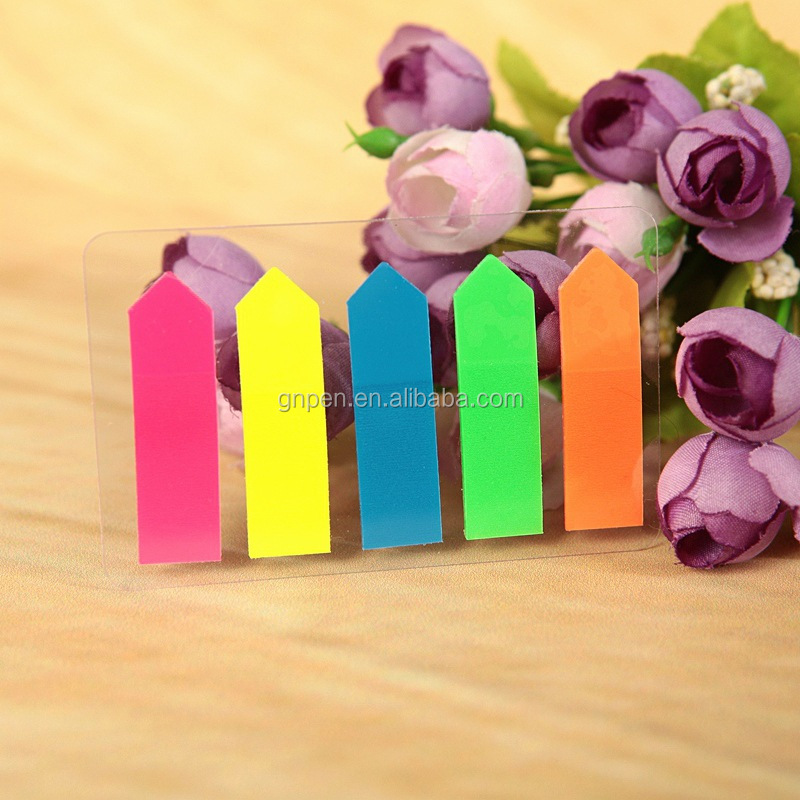 Self Adhesive Arrow Memo Pad Sticky Cute Candy Color Sticky Notes Post it Bookmark Point It Marker Memo Sticker Paper Escolar